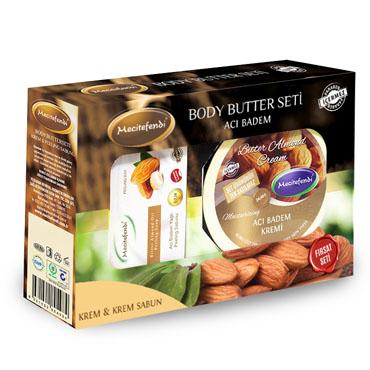 Acı Badem Kremi + Acı Badem Peeling Sabun Seti (200 ml + 100 gr)