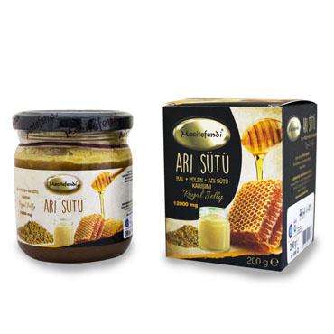 Arı Sütü, Bal, Polen Karışımı (Mecitefendi - 12000 mg)