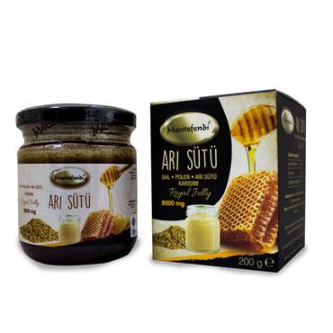 Arı Sütü, Bal, Polen Karışımı (Mecitefendi - 8000 mg)