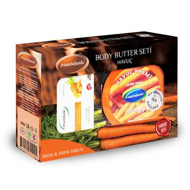 Havuç Kremi + Havuç Peeling Sabun Seti (200 ml + 100 gr)