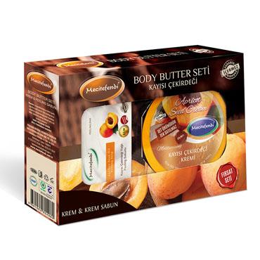 Kayısı Çekirdeği Kremi + Kayısı Çekirdeği Peeling Sabun Seti (200 ml + 100 gr)