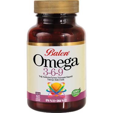 Omega 3,6,9 Yağ Asitlerini İçeren Yumuşak Kapsül (60 Adet)