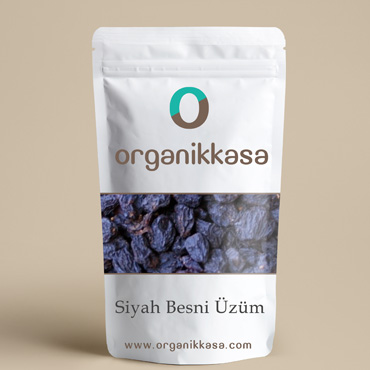 Organik Siyah Besni Kuru Üzüm (250 Gr)