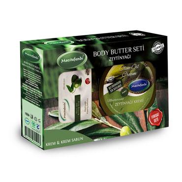 Zeytinyağı Kremi + Zeytinyağı Peeling Sabun Seti (200 ml + 100 gr)